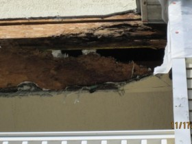 Water Damage at Gable Roof