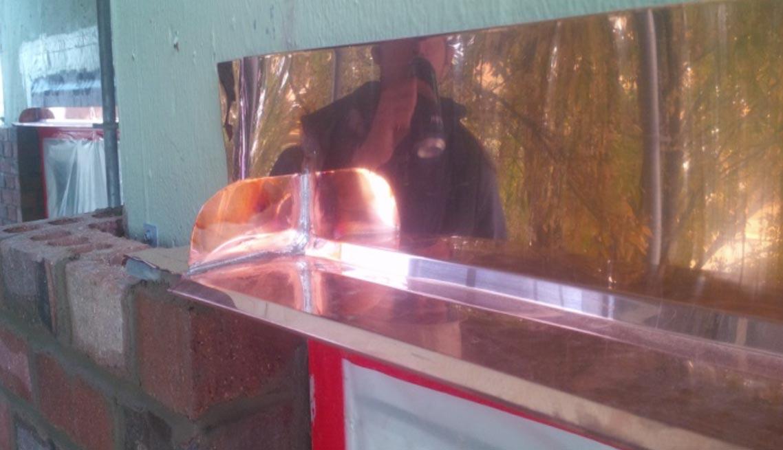 Copper Window Head Flashing